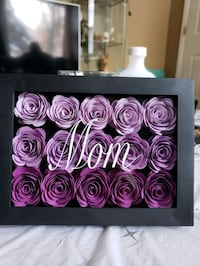 ☆☆SAMPLE ☆☆Flower shadow box ,5x7 ,can customize words or name to it