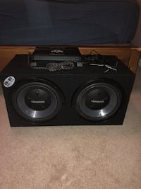 """2 12"""" kenwood subs with sealed enclosure and an autotek 2000w amp"""