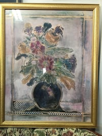 white and pink petaled flowers painting Largo, 33771