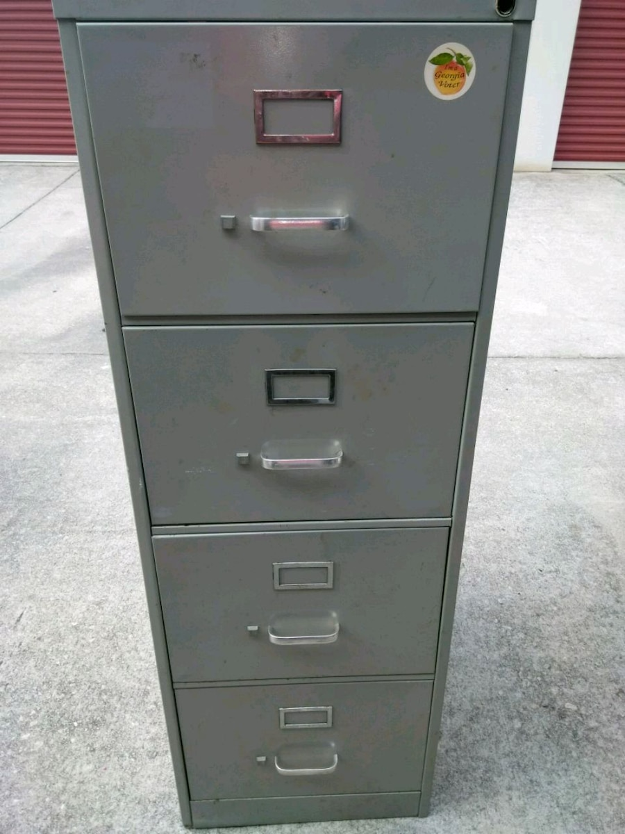 used gray metal 4 drawer filing cabinet for sale in stone mountain rh us letgo com