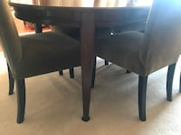 DINING ROOM SET TABLE 8 CHAIRS 3 LEAVES CHINA CABINET Côte-Saint-Luc