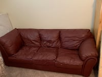 Leather Couch, Over Stuffed