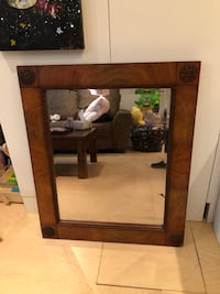 Gorgeous MCM wood mirror  Victoria, V8R 4P7