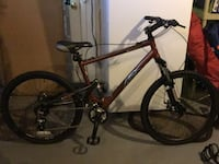 black and red hard tail mountain bike Suitland, 20746