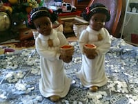 two white ceramic angel figurines Woodbridge, 22191