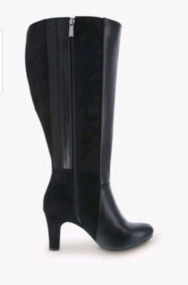 Brand New black knee high boots.. Size 8