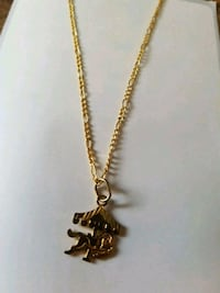 gold-colored carousel pendant necklace Pickering, L1W 3R3