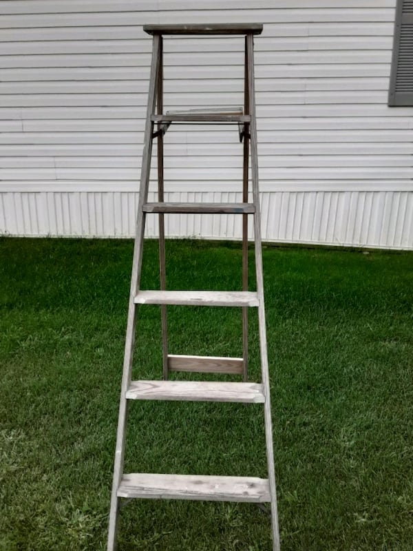 Two Wooden Vintage Ladders 4