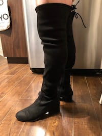 Over the knee suede boots Steve Madden