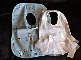 cute baby bibs - brandnew with tags