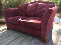 Ashley matching burgundy  sofa and loveseat 202 mi