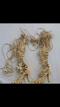 Tan lace up sandals Waterbury, 06706