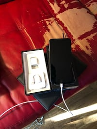 jet black iPhone 7 with box, USB Power Adapter, and Lightning to 3.5 mm Headphone Jack