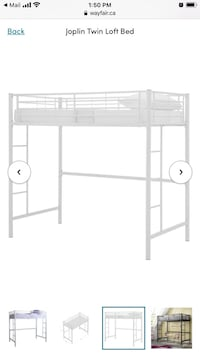 Twin Loft Bed White  Toronto, M6S 5B5