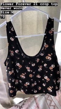 black and white floral scoop-neck sleeveless top Lafayette