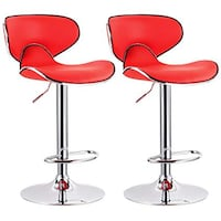 Two Brand New Red Leather Bar Stool Barstools  Brea, 92821