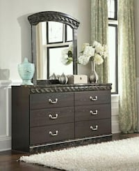 Vachel Dark Brown Dresser   Houston