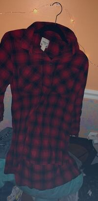Red and black plaid dress shirt Bowie, 20715