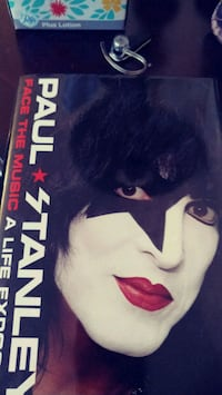 Paul Stanley from Kiss signed book