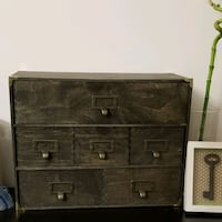 APOTHECARY BOX | CARD CATALOG | WOOD STAINED MINI  Rockville, 20850
