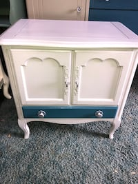 Beautiful refinished vintage cabinet accent table/ nightstand