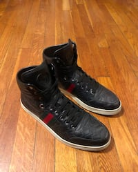 Men's Gucci sneakers size 11 black printed paid $590 authentic in good condition. Worn only a couple of times.  Washington, 20002