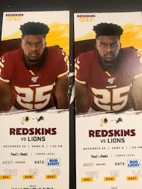 Skins vs Lions Tickets (2) Fairfax Station, 22039