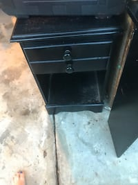 black wooden 2-drawer nightstand Fayetteville, 28304