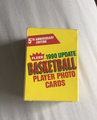 Fleer 1990 Update Basketball Player Photo Cards