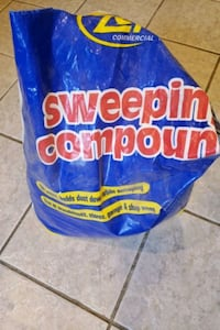 Sweeping Compound 1/2 50lb Bag. Harwood Heights