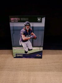 Hayden Hurst Rookie Card  Baltimore, 21206