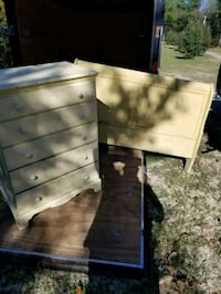 Dresser and headboard with rails  North Augusta
