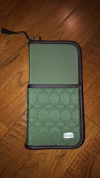 Olive green travel document holder wallet