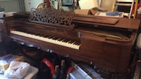 1849 Weber rosewood square baby grand piano