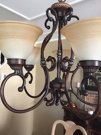 Black and white uplight chandelier Wantagh, 11793