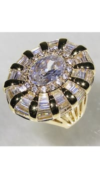 18k Gold Filled Clear CZ Ring Size 7