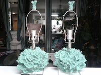 Two painted coral lamps Burnaby, V5R 2M9