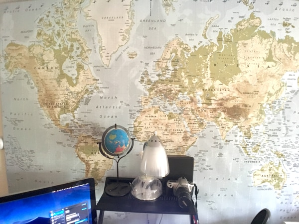 Ikea Premier World Map Picture With Frame/Canvas
