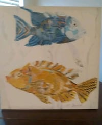 Wall art-fish painted on canvas with acrylic paint Lexington, 40503