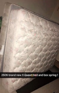 Brand new queen bed and box spring lowest 230 inbox for location pick up  Grand Rapids, 49508