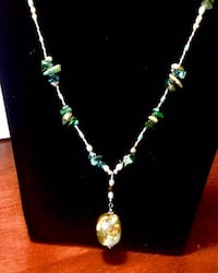 White turquoise, blue fluorite, pearls and sterling silver necklace Oklahoma City, 73108