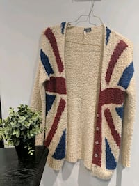 Sparkle & Fade Union Jack Cardigan Size XS Richmond, V6Y 2B3