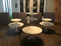 Beautiful Set of 4 cake plate stands Coquitlam, V3B 6A7
