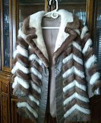 white and brown mink tails fur coat Silver Spring, 20906