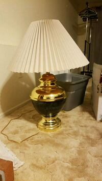 brown and white table lamp Dunkirk, 20754