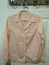 The Gap - Pink and White Blouse