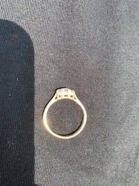 14K Gold and diamond ladies ring. Size 7