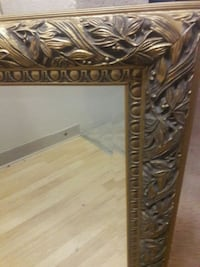 brown wooden framed wall mirror Kent, 98032