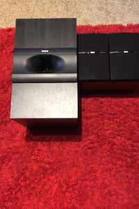 RCA subwoofer and 3 speakers