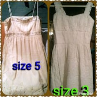 two gray and white sleeveless dress Moss Point, 39562